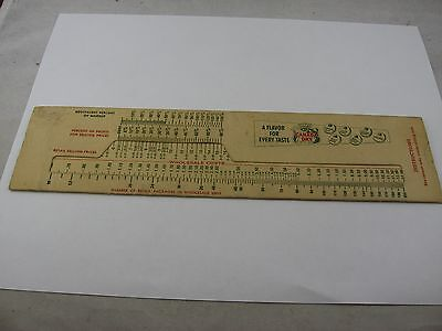 Vintage Canada Dry Slide Rule Calculator for Retail Pricing Wholesale