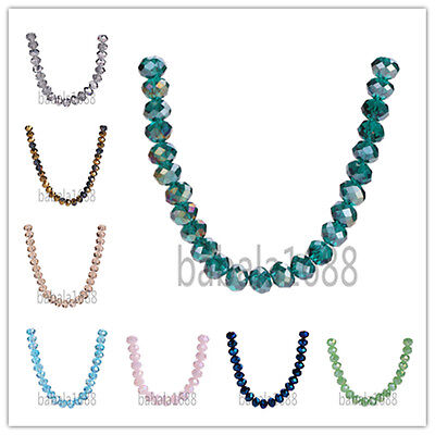 Wholesale 3x4mm Rondelle 5040# Faceted Crystal Glass Loose Spacer Bead 71 Colors