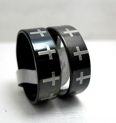 12pcs Cross stainless steel rings fashion rings lots wholesale