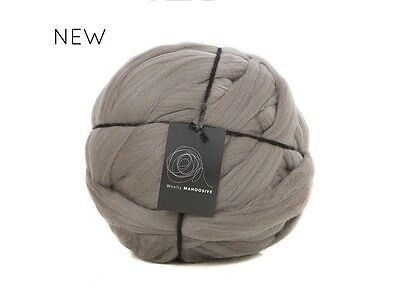 1kg Brown Merino Wool Gigantic Extreme Arm Knitting Chunky Thick 19.5micron