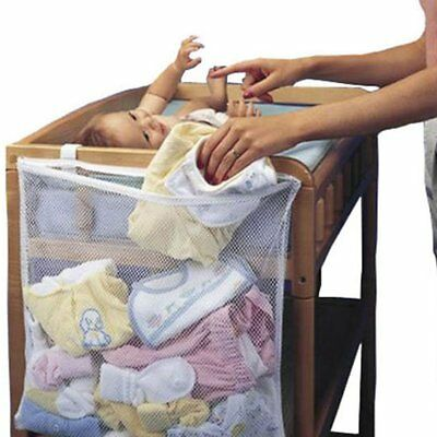 Utility Baby Clear Mesh Hanging Bag Bed Closet Diaper Organizer Holder Storage
