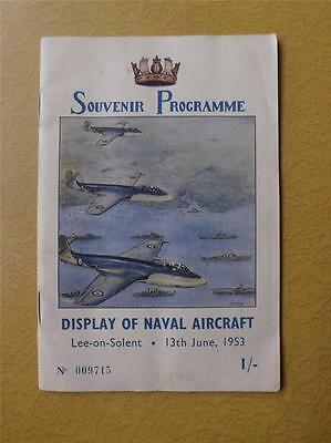 Souvenir Program Lee On Solent Display Old Naval Aircraft Plane 1953 Fold Out