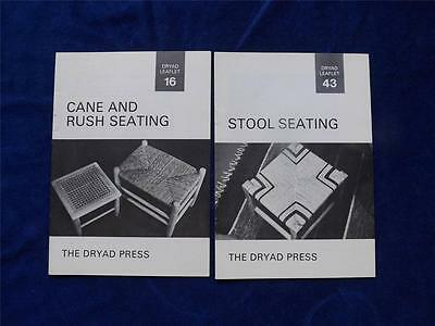 Dryad Leaflets 43 & 16 Stool Seating & Cane And Rush Seating Craft Instruction