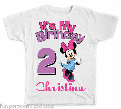 Personalized It's My Birthday Disney Minnie Mouse T-Shirt