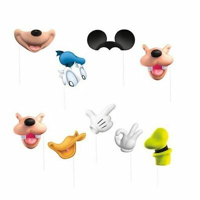 Disney Mickey Mouse Birthday Party Photo Booth Kit 8 props Goofy Donald
