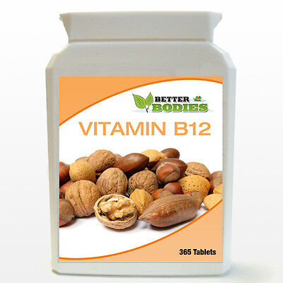 Vitamin B-12 1000mcg High Potency 1-a-day 365 TABLETS BOTTLE YEAR SUPPLY
