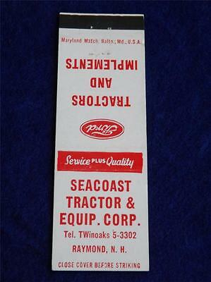 Ford Tractors Matchbook Seacoast Equipment Corp Raymond N.h. Implement Dealer