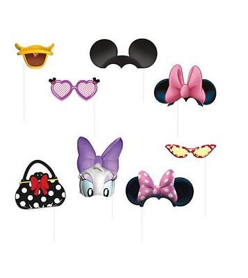 Disney Minnie Mouse Birthday Photo Booth Props, 8 pieces, Daisy Duck Bow Ears