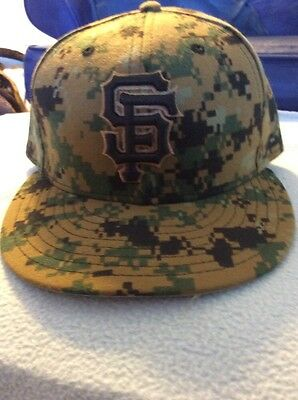 Hensley Meulens Authentic Game-Used SF Giants Memorial Day Cap worn on 5/30/16.