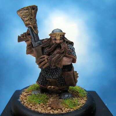 Painted Ral Partha Miniature Dwarf Thunder Chief