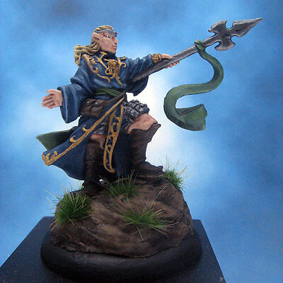 Painted Chainmail Miniature Grey Elf Wizard