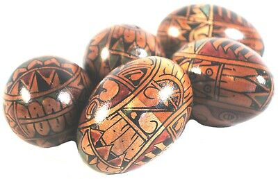 Fair Trade Large Size Wooden Hand-Painted Egg Shaker (17cm circumference)