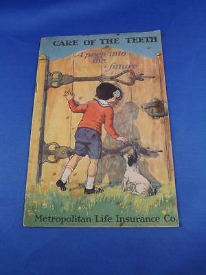 Booklet Care Of The Teeth Metropolitan Life Insurance Co Advertising 1921