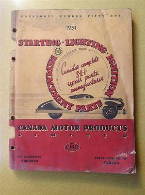 Canada Motor Products Limited Catalogue 1951 Starting Lighting Ignition Car Part