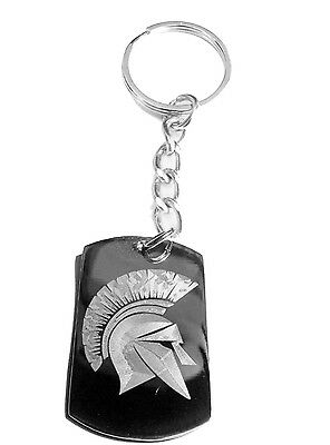 Ancient Greece Greek Warrior Spartan Helmet Metal Ring Key Chain Key Ring Pocket