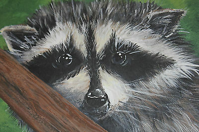 Raccoon Acrylic On Canvas By Internationally Known Artist