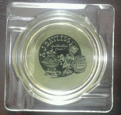 Vintage AJ Bayless Your Hometown Grocer Grocery Store Advertising Ashtray