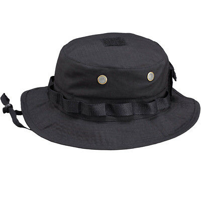 82bcd61c98a PENTAGON JUNGLE HAT Boonie Army Security Tactical Police Ripstop Headwear  Black - £10.00