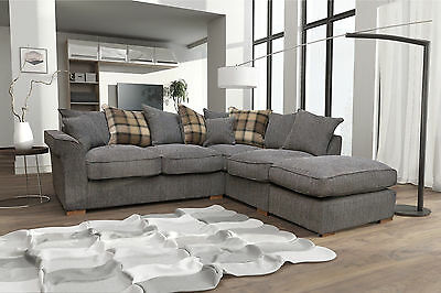 NEW FABLE LARGE Corner Sofa Scatter Back with Free Footstool ...