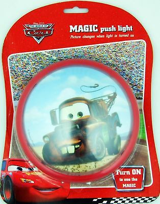 Disney THE CARS TOW MATER TRUCK Push Night Light