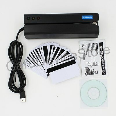 USB Magnetic Stripe Credit Card Writer Reader Encoder Swipe MSR206 MSR605 MSR606