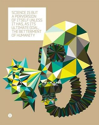 """Nikola Tesla Quote """"Science Is A Perversion..."""" Inspired 22""""X 28"""" Poster"""