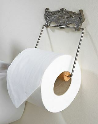 Cast Iron and Brass Ornate Toilet Roll Holder