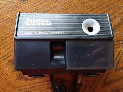 Vintage 1980's Panasonic Auto-Stop Electric Pencil Sharpener KP-110 Black TESTED