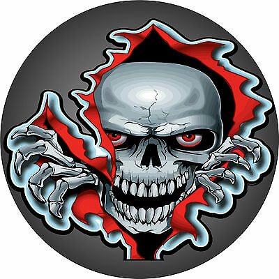 Skull With Red Eyes, Car Tax Disc Holder Permit O Operators License