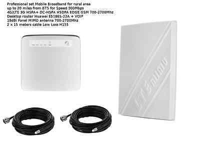 MIMO Mobile Broadband Antenna Booster Huawei E5186 LTE 4G 300MBPS 18dbi 15M H155