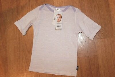 Bonds Newbies 3/4 Sleeve Tee Top - Lilac & White - Sizes 0000, 000, 0, 1, 2 BNWT