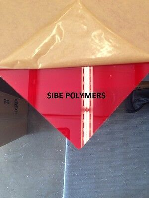 "Translucent Red Acrylic Plexiglass 1/8"" X 8"" X 12"" Plastic Sheet"