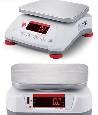 Ohaus Valor 4000 V41PWE6T Washdown Portion Bench Scale,15X0.002 lb,NTEP,Legal