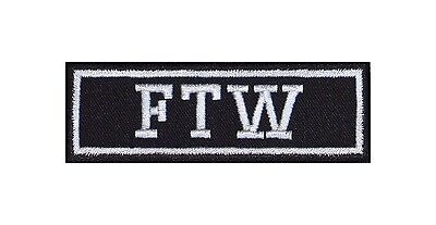 FTW = F*** the World Biker Patches Aufnäher Motorrad MC Rocker Bügelbild Heavy