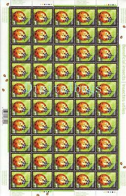 Stamp Collection Canada Post Beneficial Insects Full Pane Convergent Lady Beetle