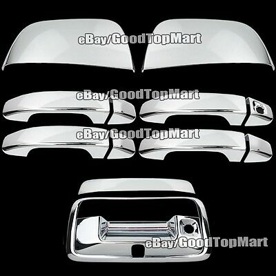 Chrome Covers Tailgate, Half Mirrors, Door Handles For Chevy Colorado 2014~2018