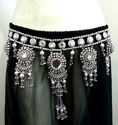 Antique Gypsy Turkey Cowries Tribal Kuchi Hip Belt Chain Scarf Belly Dance Sari