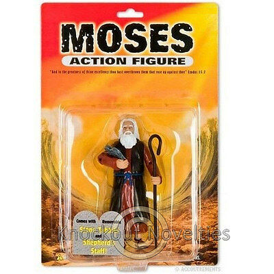 Moses Action Figure Fun Novelty Toy Bible Biblical Sunday School Old Testament