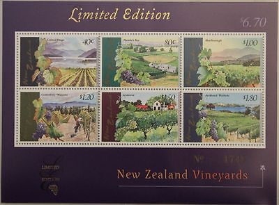NEUSEELAND 1997 Block A 64 LIMITED EDITION Vineyards Weinberge Weinanbaugebiete
