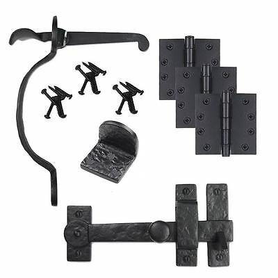 Iron Valley- Gate Kit - Drop Bar-Bean Latch-Gate Stop-Hinges - Solid Cast Iron