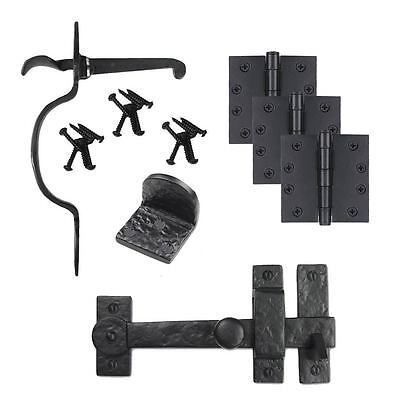 Iron Valley- Gate Kit - Drop Bar-Spear Latch-Gate Stop-Hinges - Solid Cast Iron