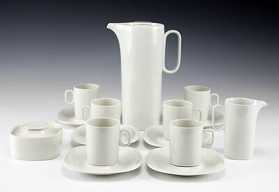 15pc Coffee Service Block Langenthal Switzerland Transition White - Modernist