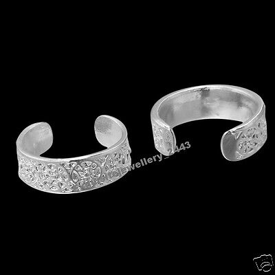 x2 925 Sterling Silver (Plate) Toe Ring