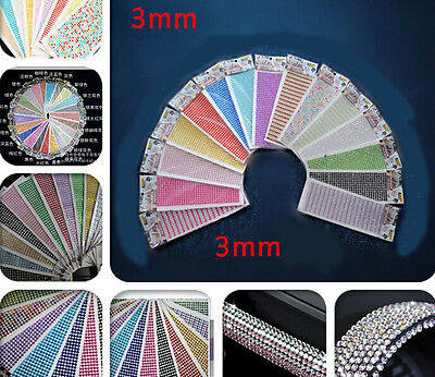 Lots Stick On Diamante Rhinestones Self Adhesive Crystals Gems Jewels Hot