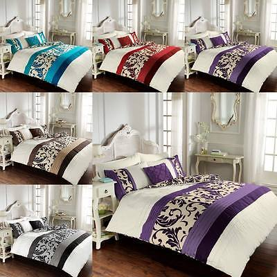 Scroll Duvet Cover Bedding Set With Pillow Case In Single Double King Super King
