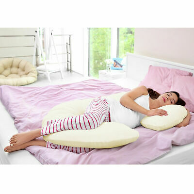C Shape Total Body Pillow Pregnancy Maternity Comfort Support Cushion Sleep