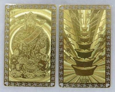 (B) 2pcs Feng Shui God Wealth Amulet Card Bring Good Lucky  Increase  Wealth