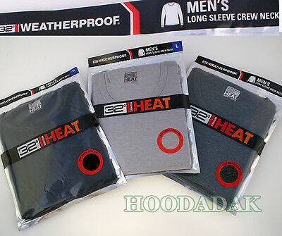 WEATHERPROOF Men's Long Sleeve Crew Neck Thermal Base Layer - Warm & Quick Dry