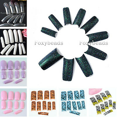 Wholesale Colorful French Acrylic Artificial False Nail Art Tips Manicure Decor