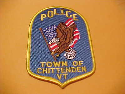 Town Of Chittenden  Vermont Police Patch Shoulder Size Unused